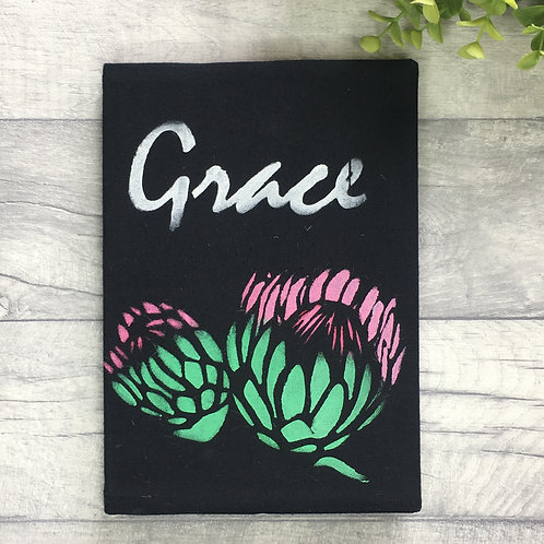 Fabric Covered Note book - Grace