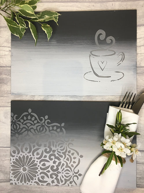 Set of 6 Hand painted Placemats