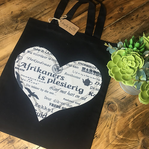 Afrikaans Heart Tote Bag