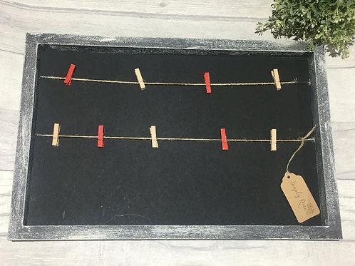 Upcycled Chalk board / Photo Frame