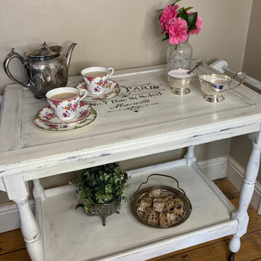 Upcycled tea trolley