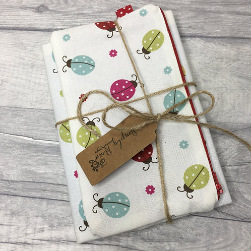 Ladybird Book and pencil case set