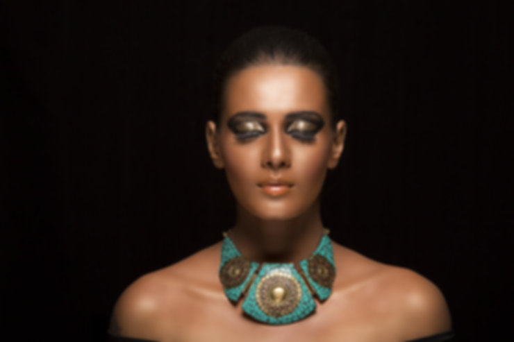 Girl with a Turquoise Necklace