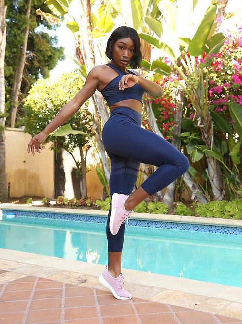 Navy Blue Set -Sports Bra & Leggings