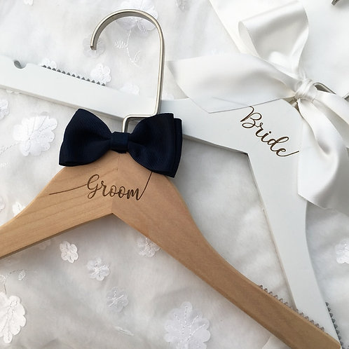 Bride, Groom Hanger (option to personalize)