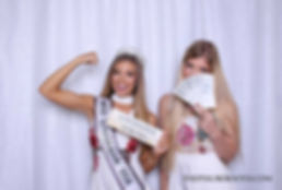 Beautiful White Sequin Backdrop with Miss Louisiana USA 2017