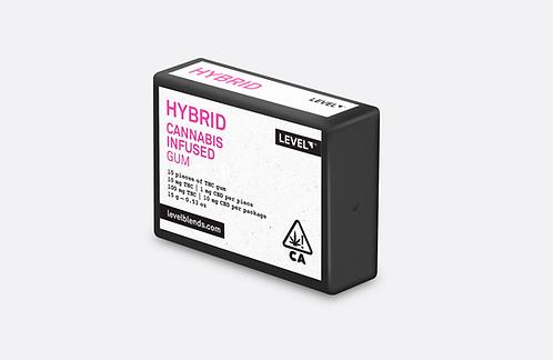 Level Gum Hybrid THC 10pk 100mg THC / 10mg CBD