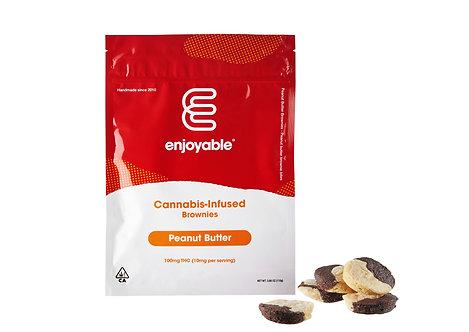 Enjoyable Edible Peanut Butter Brownie 100mg THC