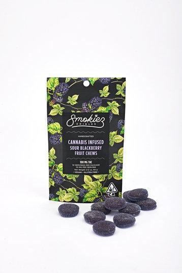 Smokiez Fruit Chews Sour Blackberry 100mgTHC