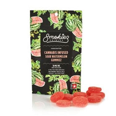 Smokiez Fruit Chews Sour watermelon 100mgTHC