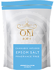 OM Body Fragrance Free Epsom Salt 25 MG THC & 25 MG CBD