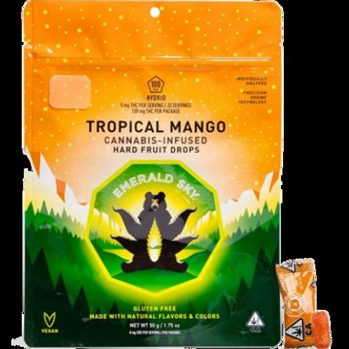 Emerald sky Hard Candy Hybrid Tropical Mango 20pk 100mg THC