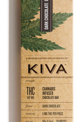 Kiva Bar Dark Chocolate100mg THC