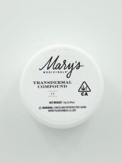 Mary's Medicinals Mini Transdermal Compound 1:1 ratio 0.5oz