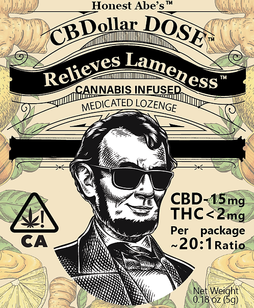 Dollar Dose CBD Lozenge 20:1 Cinnamon Spice 15mgCBD  2mgTHC