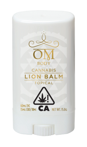 OM Body Lion Balm Pain Relieving Roll On 60 MG THC & 15 MG CBD