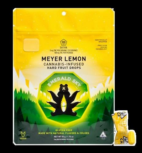 Emerald Sky Hard Candy Sativa Meyer Lemon 100mg 20pk