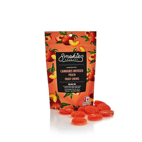 Smokiez Fruit Chews Peach 100mg THC