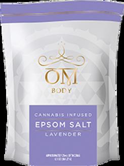 OM Body Lavender Epsom Salt 25 MG THC & 25 MG CBD