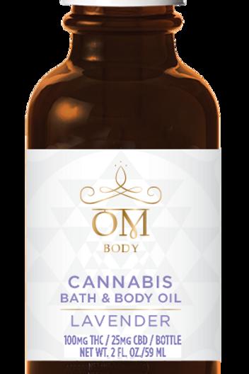 OM Body Bath and Body Oil Lavender 100mgTHC/25mgCBD
