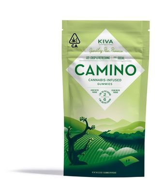 Kiva Camino Gummies Sparkling Pear Prosecco 3:1 CBD/THC 116mgCBD/40mgTHC