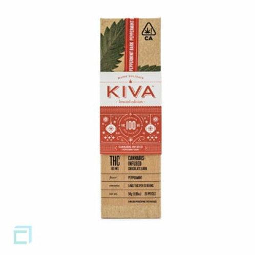 Kiva Bar Dark Peppermint Bark 100mg THC