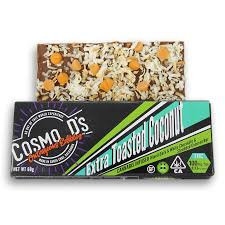 Cosmo D's Edible Chocolate Bar Extra Toasted Coconut 100mg THC