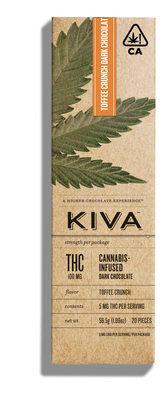 Kiva Bar Toffee Crunch Chocolate 100mg THC