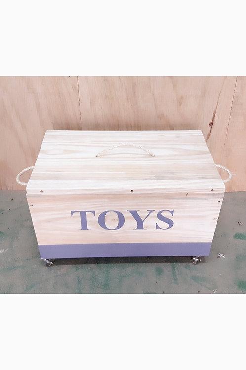 Caixa de brinquedos com tampa