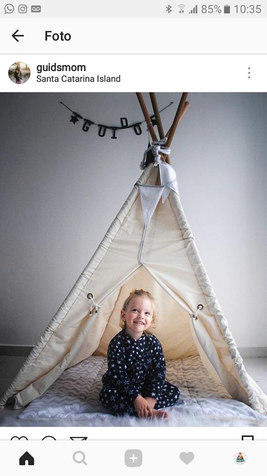 A moda das cabanas para crianças!
