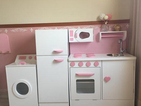 Cozinha planeja e área de serviço completa