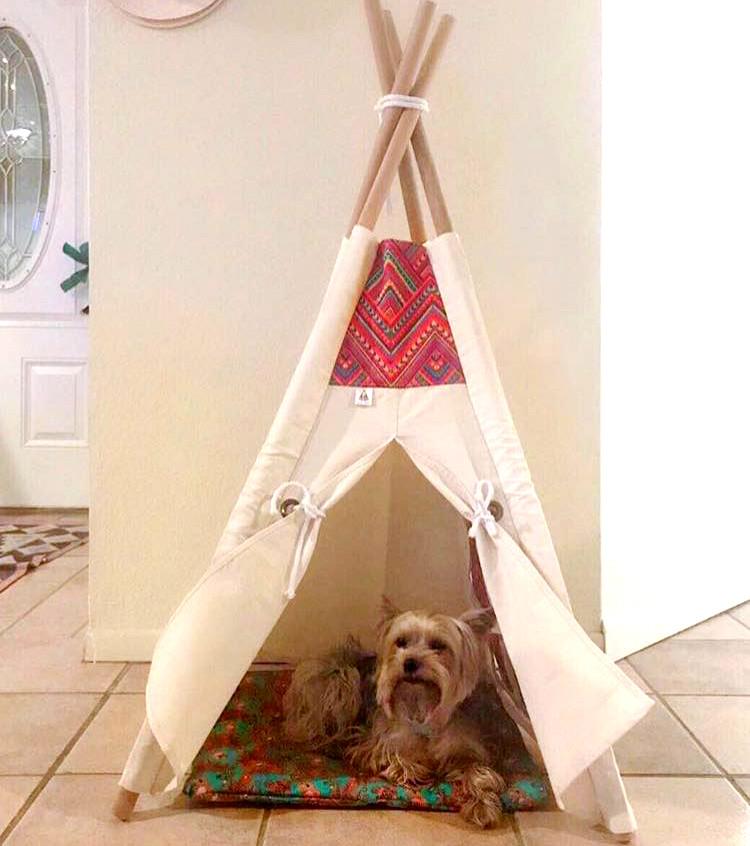Quem disse que cabanas da Teepee são só para crianças?!?Os animais de estimação  também amam e são nossos melhores clientes.