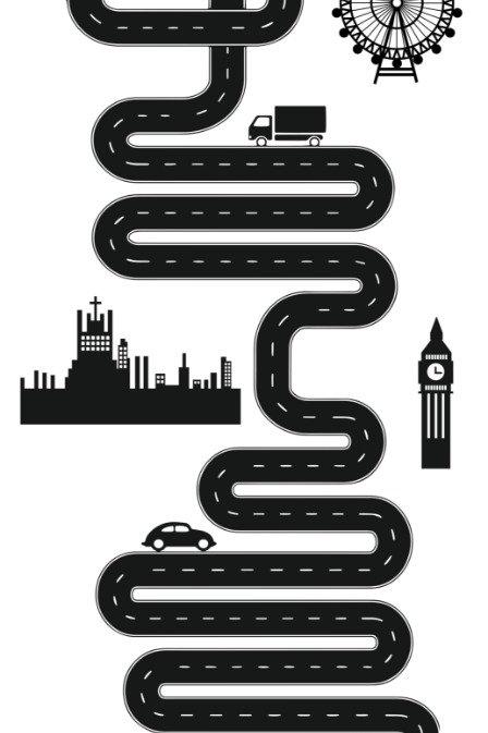 Tapete pista de carrinhos, Londres.