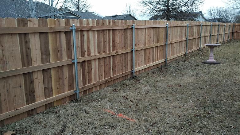 Cedar Privacy Galvanized Posts