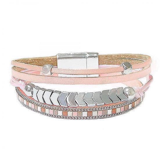 Boho Pink Champagne Bracelet