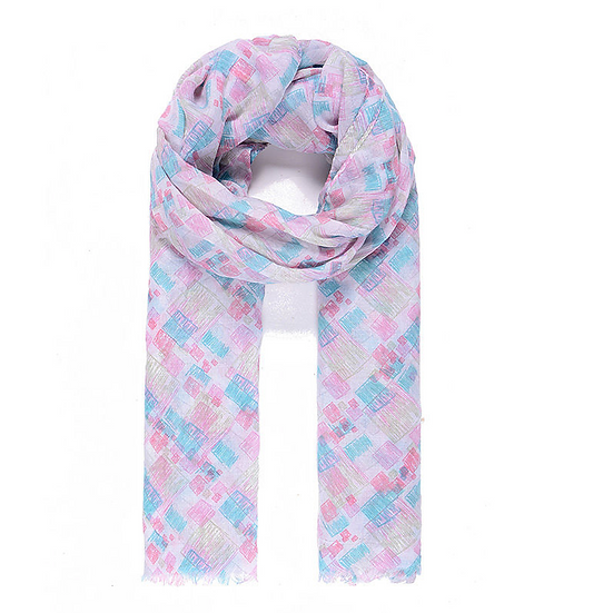 Pink & Blue Scarf