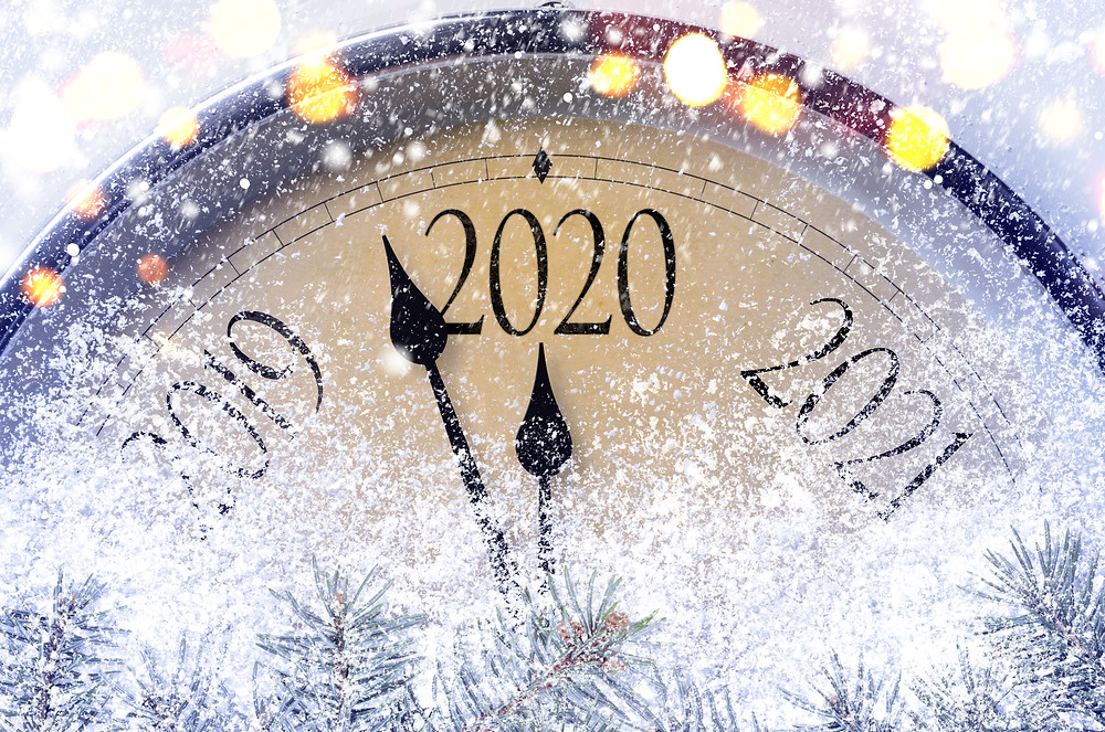 A clock counting down to 2020