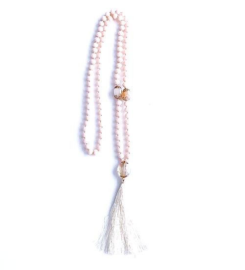 Imogen Crystal Tassel Necklace