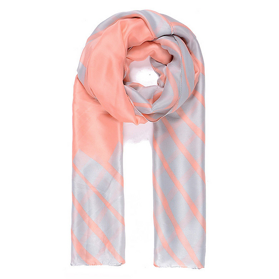 Pink & Grey Scarf