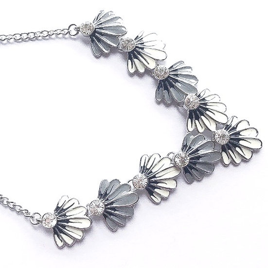 Crystal Petal Necklace