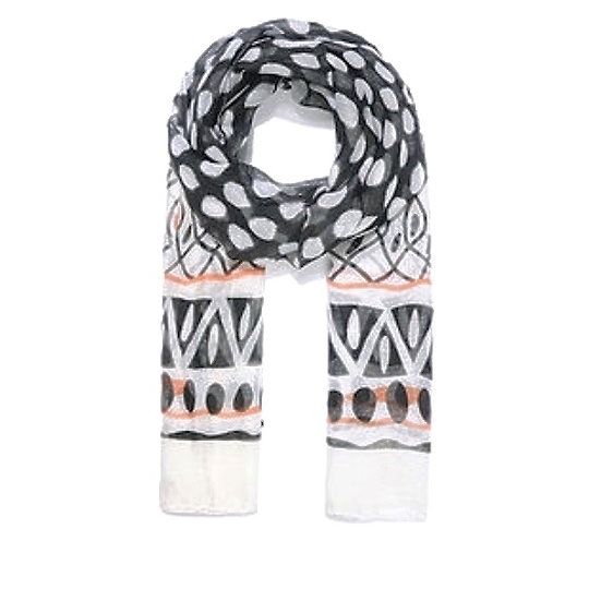 Striking Print Scarf