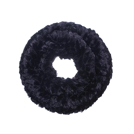 Black Faux-Fur Snood
