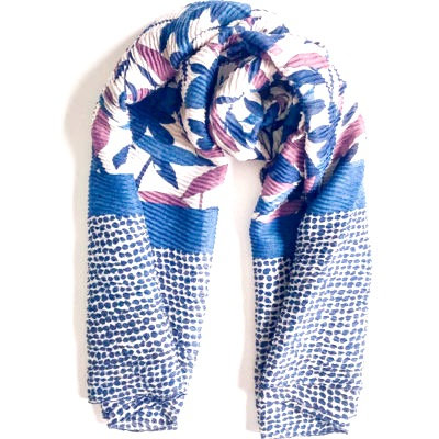 All The Blues Print Scarf