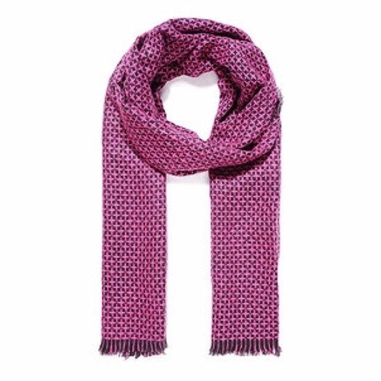 Fuchsia Knitted Scarf