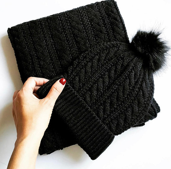 Bobble Hat & Scarf