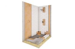 shower kit 32x60 center drain