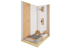 Shower kit 32x60 off center drain