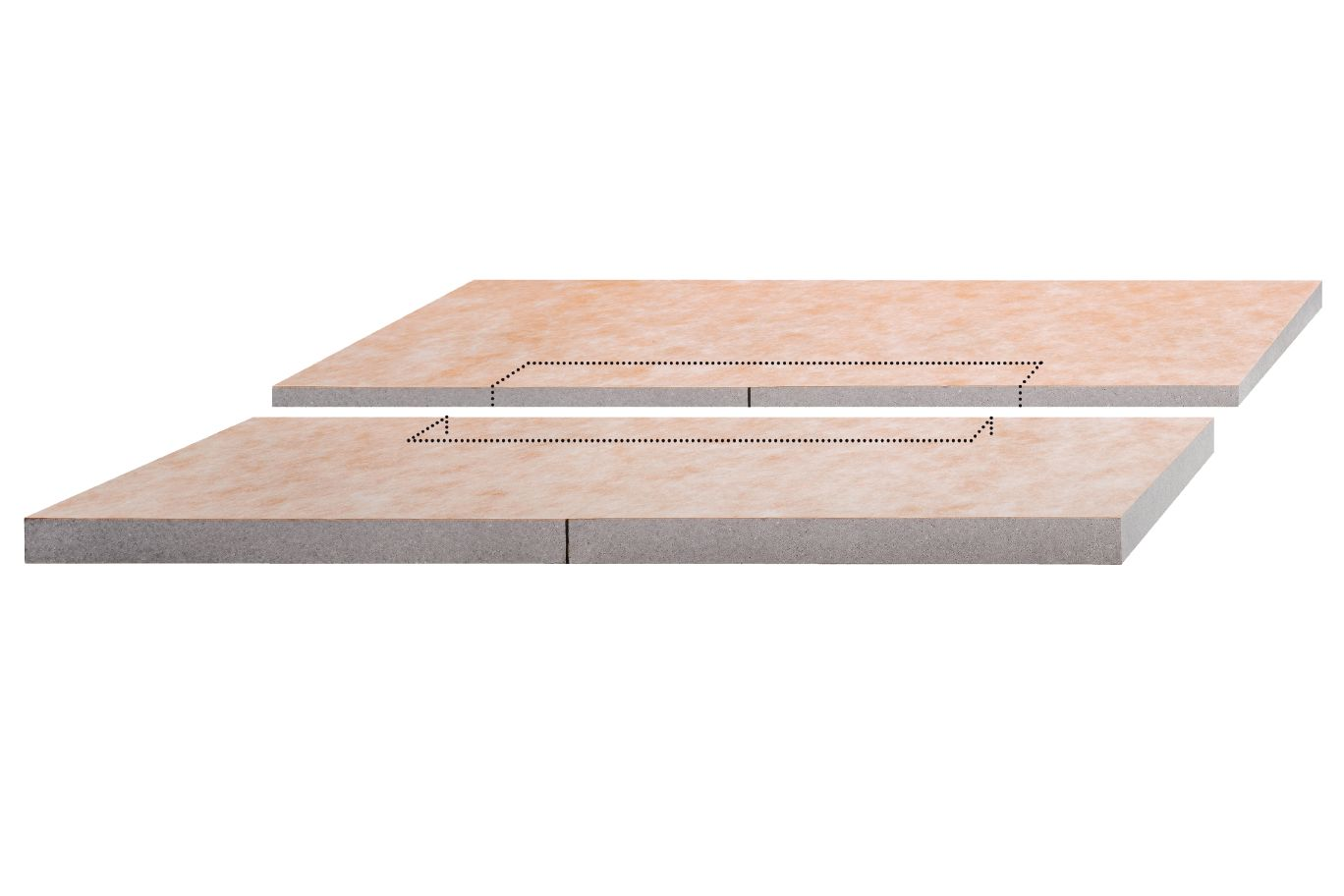 Center Linear Drain Pan