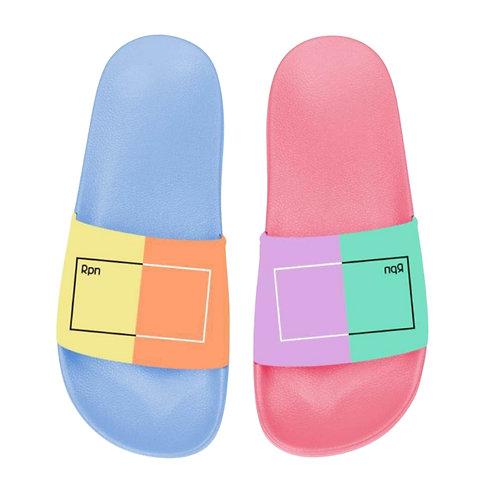 Colour blocked Sliders (Women's)