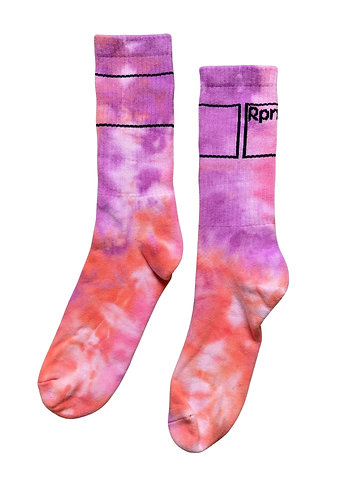 sports socks with tie dye